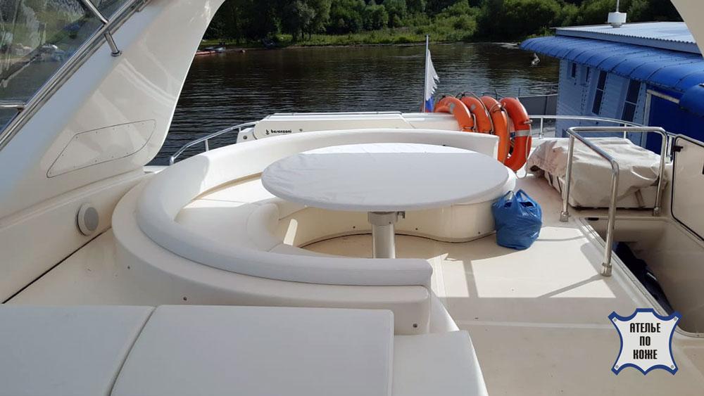 Перетяжка мебели для яхты катера в Ателье Тент Чебоксары