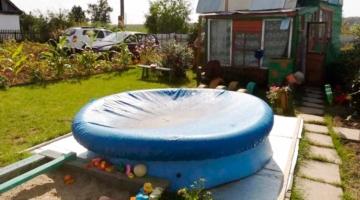 Тент на надувной бассейн